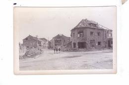 GUERRE 39 45 Ww2  Carte Photo Destruction Avancee  Americaine  Rue Ruines  Enfants   Belgique   France - War 1939-45