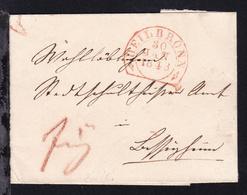 Heilbronn Steigbügelstempel HEILBRONN 30 JAN 1843 Auf Briefhülle - [1] ...-1849 Prephilately