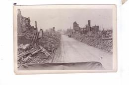 GUERRE 39 45 Ww2  Carte Photo Destruction Avancee  Americaine Ville Ruines Camion Americain  Maybe Aachen - War 1939-45