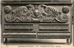 61kst 1114 CPA - MUSEE DE CLUNY - BOIS PANNEAUX - Museen