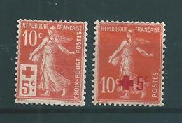 France Semeuse  N°146/47 Croix Rouge Neuf * - 1906-38 Semeuse Camée