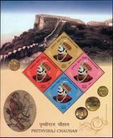 2018 India Inde 2018 India Mini Miniature Sheet MNH King History Numismatics Coin Monument War Odd Shaped, Indien - Celebridades