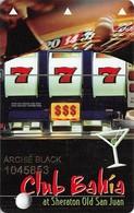 Club Bahia At Sheraton Old San Juan Puerto Rico Slot Card .....[FSC]..... - Casino Cards