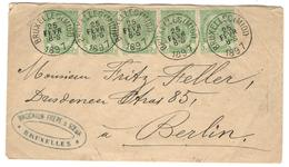 13645 - Bande De  5 TP - 1893-1907 Stemmi