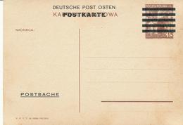 DEUTSCHE POST OSTEN / POLAND - Polnische Ganzsache Mit Überdruck - Rückseitig: Postamt Krakau ... - Besetzungen 1938-45