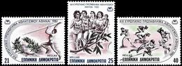 ** Greece - 1982 - Athletics Euro Champ 1982 - Mi. 1483-5 - Atletica
