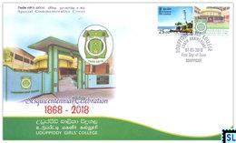 Sri Lanka Stamps 2018, Uduppiddy Girls' College, Special Commemorative Cover - Sri Lanka (Ceylon) (1948-...)