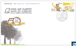 Sri Lanka Stamps 2018, State Timber Corporation, Elephants, Special Commemorative Cover - Sri Lanka (Ceylon) (1948-...)