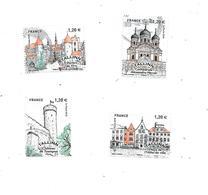 Capitales Européennes Tallinn 5212 à 5215 Oblitéré 2018 - France