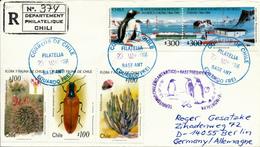 EDUARDO FREI / CHILE - 1996 , Chilenische Antarktis - Brief Nach Berlin - Timbres