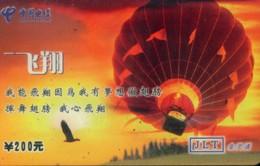 China Telecom Prepaid Cards, Hot Air Balloon, Mianyang City, Sichuan Province, (1pcs) - Sport