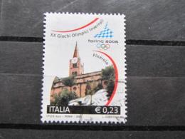 *ITALIA* USATI 2005 - 2^ TORINO 2006 - SASSONE 2809 - LUSSO/FIOR DI STAMPA - 6. 1946-.. Repubblica