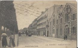 Carte Postale Ancienne De Nantes Le Boulevard Sébastotpol - Nantes