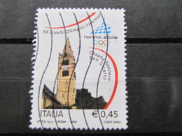 *ITALIA* USATI 2005 - 2^ TORINO 2006 - SASSONE 2810 - LUSSO/FIOR DI STAMPA - 6. 1946-.. Repubblica