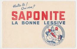 Buvard 20.9 X 13.3 SAPONITE Lessive  Napoléon Marianne - Produits Ménagers