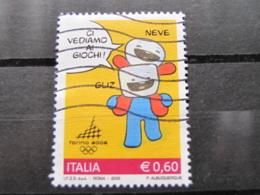 *ITALIA* USATI 2005 - 2^ TORINO 2006 - SASSONE 2811 - LUSSO/FIOR DI STAMPA - 6. 1946-.. Repubblica