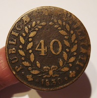 PORTUGAL 40 REIS PATACO 1830. - Portugal