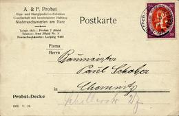 NIEDERSACHSWERFEN - 10.6.1920 , Nationalversammlung - Karte Nach Chemnitz - Deutschland