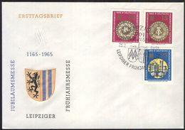 DDR 1965 Mi-Nr. 1090/92 FDC - DDR