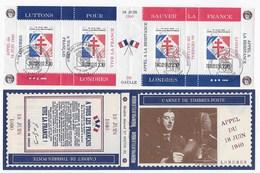 Carnet De Gaulle Commémoration 50 Ans Appel 18 Juin 40 édité Par P. MAYER (manque Agrafe) - Libération