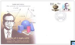 Sri Lanka Stamps 2018, Professor J.E. Jayasuriya, Special Commemorative Cover - Sri Lanka (Ceylon) (1948-...)