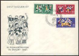 DDR 1961 Mi-Nr. 827/29 FDC - FDC: Briefe