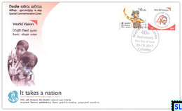 Sri Lanka Stamps 2017, World Vision, Special Commemorative Cover - Sri Lanka (Ceylon) (1948-...)
