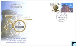 Sri Lanka Stamps 2017, Hilton Colombo, Special Commemorative Cover - Sri Lanka (Ceylon) (1948-...)