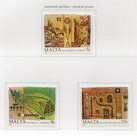 Malta - 1987 - Anniversari Ed Eventi - 3 Valori - Nuovi - Vedi Foto - (FDC14125) - Malta