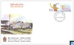 Sri Lanka Stamps 2017, Ministry Of Sports, Special Commemorative Cover - Sri Lanka (Ceylon) (1948-...)