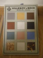 VILLEROY & BOCH Merzig Saar Publicité échantillons De Carrelage Carreaux Ciment - Publicités