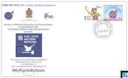 Sri Lanka Stamps 2017, Ministry Of National Integration And Reconciliation, Special Commemorative Cover - Sri Lanka (Ceylon) (1948-...)