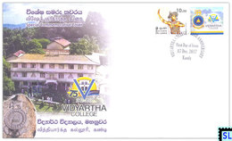 Sri Lanka Stamps 2017, Vidyartha College, Kandy, Special Commemorative Cover - Sri Lanka (Ceylon) (1948-...)