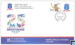 Sri Lanka Stamps 2017, Maris Stella College, Negombo, Special Commemorative Cover - Sri Lanka (Ceylon) (1948-...)