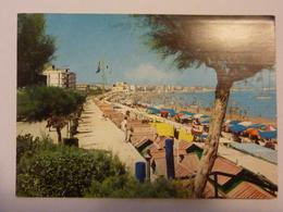 """Cartolina Viaggiata """"CATTOLICA La Spiaggia""""  1966 - Italy"""