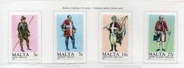 Malta - 1987 - Uniformi Maltesi - 1^ Serie - 4 Valori - Nuovi - Vedi Foto - (FDC14126) - Malta
