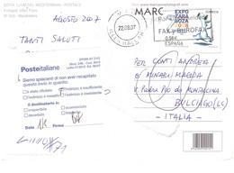 CART, MENORCA MACARELLETA €0,58 EXPOZARAGOZA 2008 VIAGGIATA X ITALIA - 1931-Oggi: 2. Rep. - ... Juan Carlos I