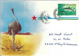 YT 718A - Dauphin - Lettre De Djibouti Pour La France - Djibouti (1977-...)