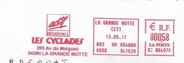 Ema Sata SC - Les Cyclades - Iles - Enveloppe Entière - Freistempel