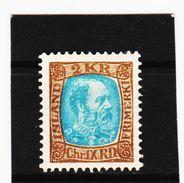 MAG1175  ISLAND 1902  Michl 46  UNGEBRAUCHT (*) FALZ  ZÄHNUNG Siehe ABBILDUNG - 1873-1918 Dänische Abhängigkeit