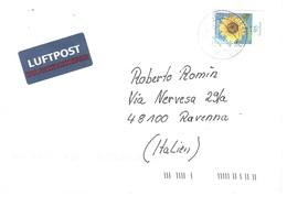 GERMANIA  X ITALY FIORI - Storia Postale