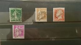 France Préoblitérés YT N° 63 67 72 77 Neuf ** MNH. - 1893-1947