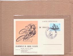 Schöne FDC / Erstagskarte  LUXEMBURG   - Championnat Du Monde Cycliste 1952 -  1952 Abgestempelt - FDC