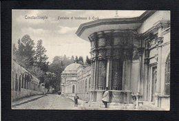 Turquie / Constantinople / Fontaine Et Tombeaux à Eyub / Verso Timbre Et Cachet Bureau Français Du Levant - Turchia
