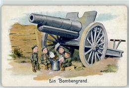 52923541 - Sign. Hoffmann Ad. Kind In Uniform Ein Bombengrand - War 1914-18