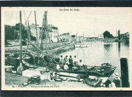 CPA - PORNIC - Barques De Pêche Au Port, Animé - Pornic