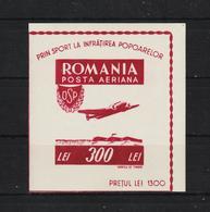 1946 - Office Des Sports Populaires Mi Bl 33  MNH - 1918-1948 Ferdinand, Carol II. & Mihai I.