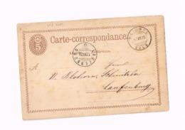 Entier Postal à 5 Centimes.Expédié De Beinwyl (Soleure) à Laufenberg. - Entiers Postaux