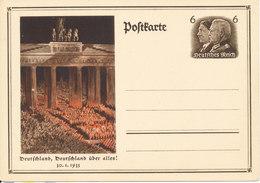 Germany Reich Postkarte Postal Stationery Deutschland, Deutschland ûber Alles In Mint Condition - Allemagne