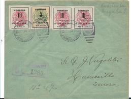 Mex004a  Mexiko, Nordstaatenausgabe (Sonora) 1915 Mit Einschreibestempel Hermosillo - Mexiko